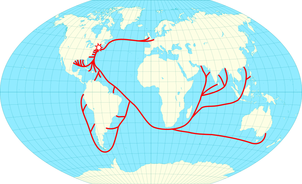 1830: Growth of International Trade Routes